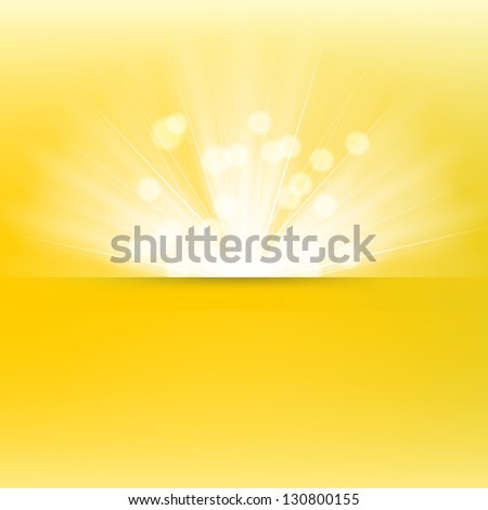 Light burst background - stock vector