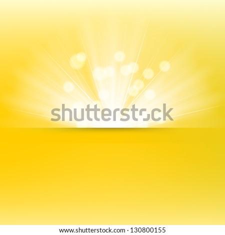 Light burst background - stock vector