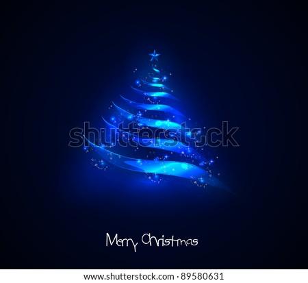 Light christmas tree - stock vector