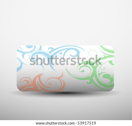 Light clip-art banners for design use. Vector