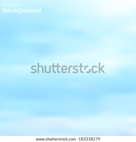 light clouds in a blue sky made using a gradient mesh Vector EPS 10 illustration. - stock vector