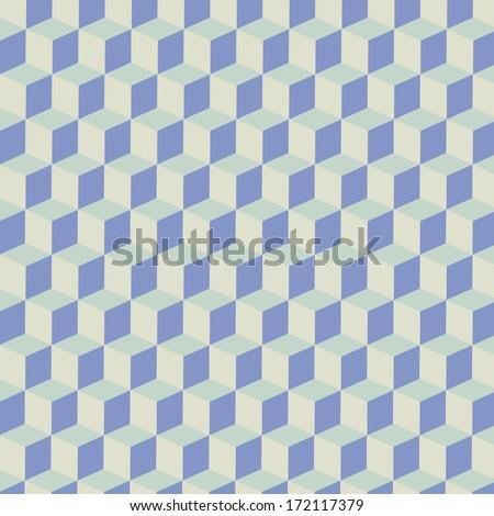 Light Cubes Seamless Pattern Background | EPS10 Vector Illustration - stock vector