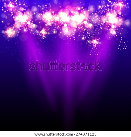 Light effect, easy all editable - stock vector
