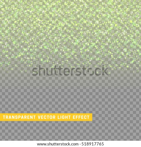 light effect green texture glowing rain of confetti. Glitter particles shining stars. Christmas background Bright design element. Xmas decoration luxury greeting card