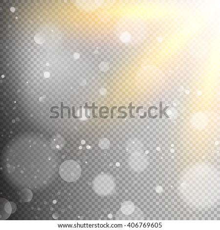 Light effect in sky, explosion on transparent background. EPS 10 vector file included - stock vector