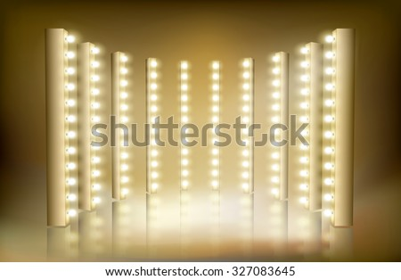 Light festival. Vector illustration. - stock vector
