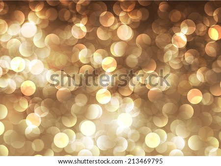Light festive background. Elegant abstract background with bokeh defocused lights.  - stock vector