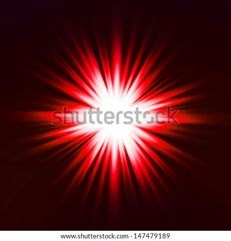 Light flare red effect. Vector - stock vector