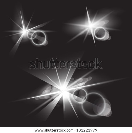 light flare special effects - stock vector