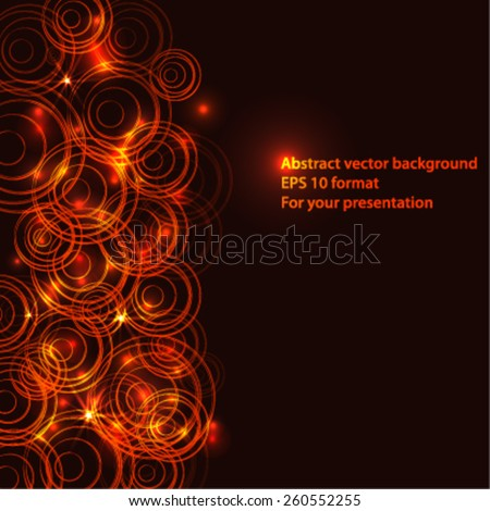 light frame background for your text or presentation with many circles - stock vector