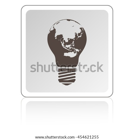 light from the surface of the globe on the lamp. eco concept - stock vector