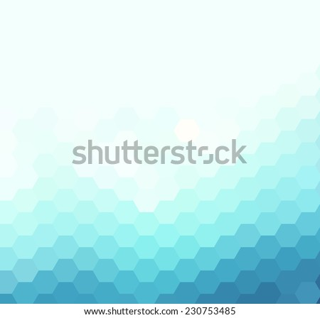 Light geometric background - stock vector