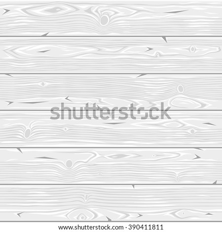 Light gray wooden vector seamless horizontal texture. Vintage retro background. Editable pattern in swatches. - stock vector