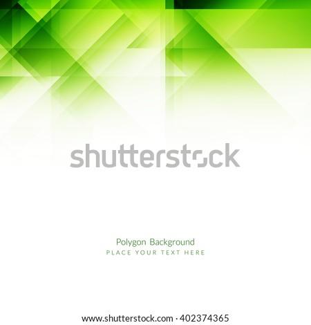 Light green color polygonal shape background - stock vector