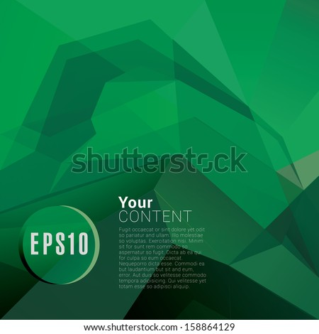 Light green edition of a scalable abstract minimal geometric eps10 vector background in retro architectural  style for universal use - stock vector