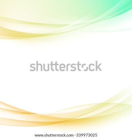 Light green orange bright border poster border layout design template. Vector illustration - stock vector