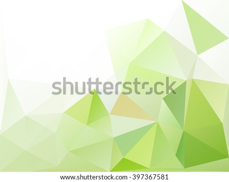 Light green polygonal background . Abstract mosaic .