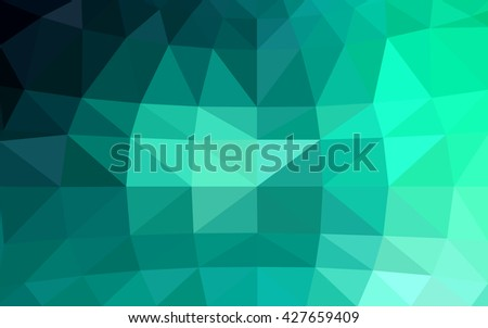 Light green polygonal illustration, which consist of triangles. Triangular design for your business. Geometric background in Origami style with gradient. - stock vector