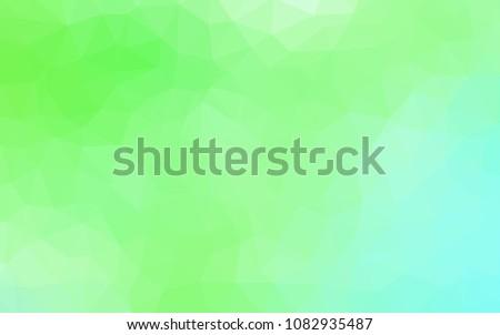 light green vector triangle mosaic template stock vector royalty
