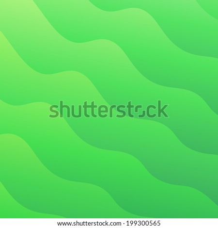 Light green waves abstract vector background - stock vector