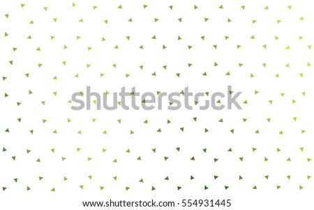 Light Green Yellow vector abstract colorful background, which consist of triangles. Pattern with colored triangles on white background.