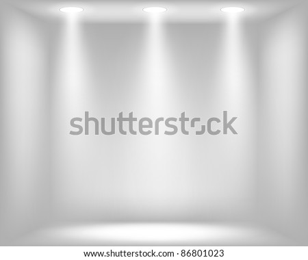Light grey background with spotlights. Vector eps10 illustration - stock vector