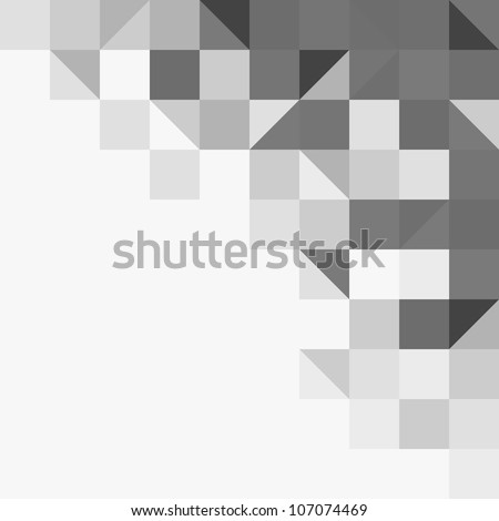 Light grey geometric background - stock vector