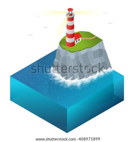 Light house, Lighthouse Icon Vector. Lighthouse  maritime, Lighthouse navigational guidance, Lighthouse Image Lighthouse isometric Lighthouse Sign Lighthouse Flat Lighthouse design, Lighthouse vector  - stock vector