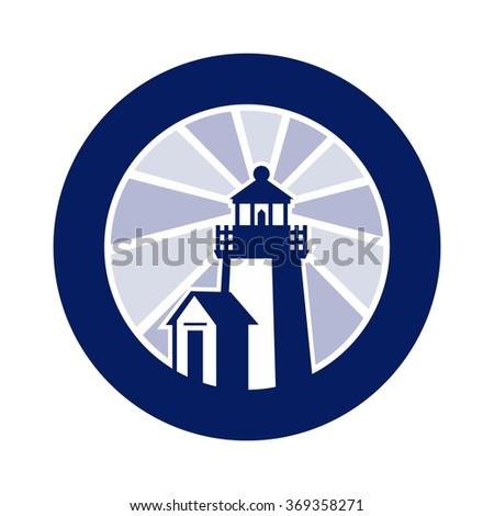 light house logo vector. - stock vector