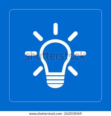 Light lamp sign icon. Idea symbol. - stock vector