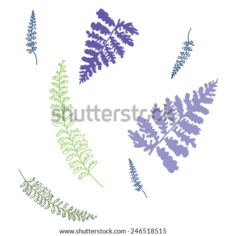 light leafs pattern - stock vector