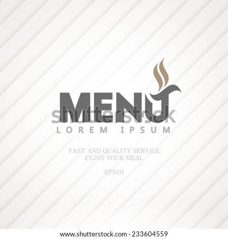 Light menu for a restaurant. - stock vector