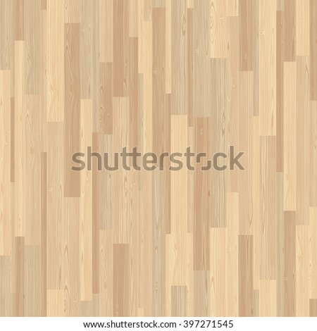 Light parquet seamless wooden floor stripe mosaic tile. Editable vector pattern in swatches. - stock vector