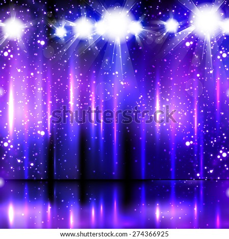 light party background, easy all editable - stock vector