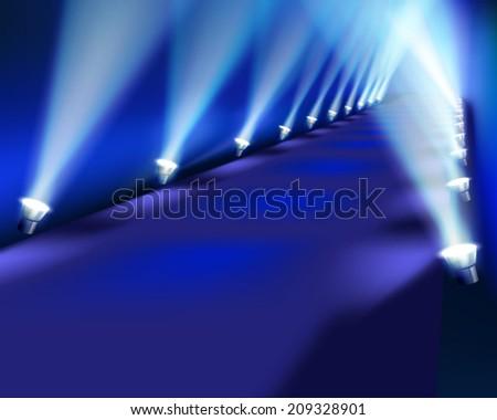 Light performance. Vector illustration. - stock vector