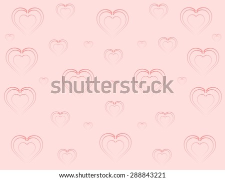 Light pink background with dark pink hearts