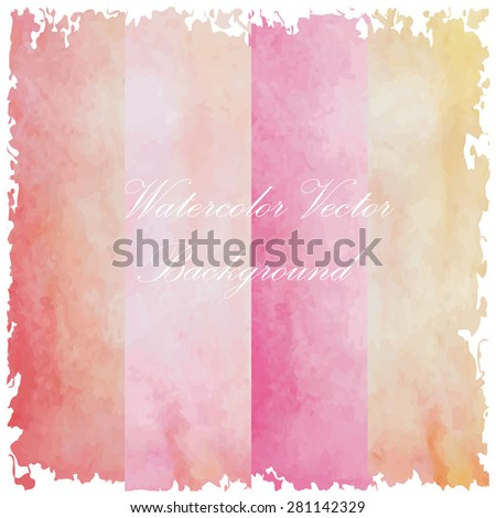light pink orange red brown rainbow tone with retro vintage style and isolate on white background in summer wedding card. - stock vector
