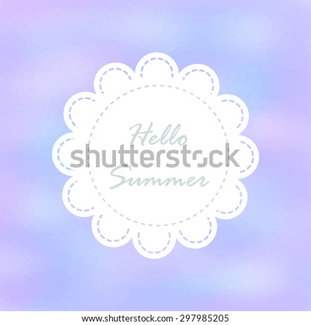 Light pink violet tone with retro vintage style and isolate in summer.Love hipster wedding card or bakery dessert menu - stock vector
