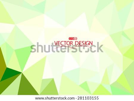 Light polygon mosaic background,vector illustration design template - stock vector