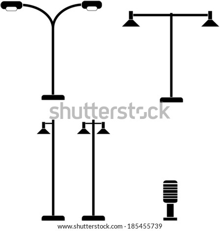 Light post vector. - stock vector