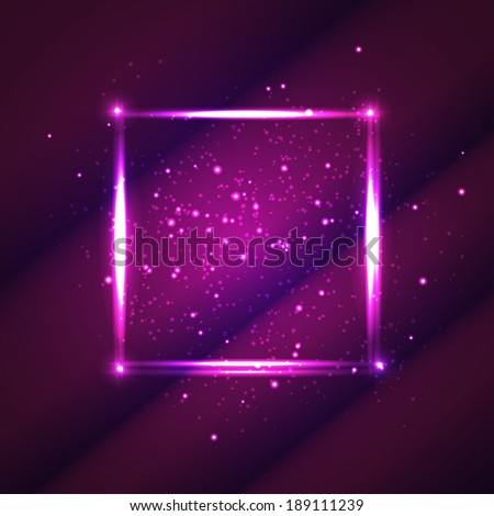 light purple square for your design or banner - stock vector