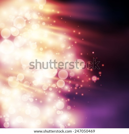 Light rays bokeh light vector background - stock vector