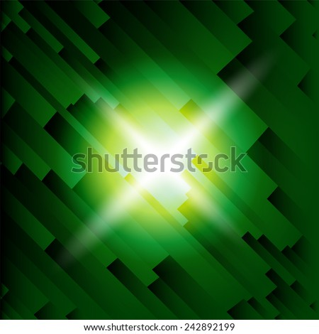 Light rays or light explosion background  - stock vector