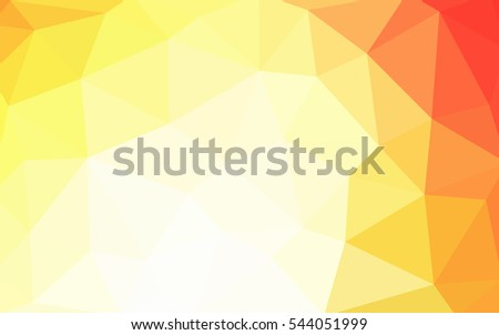 Light red, yellow polygonal illustration, which consist of triangles. Triangular design for your business. Geometric background in Origami style with gradient.