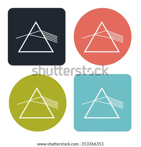 Light refraction icon - stock vector
