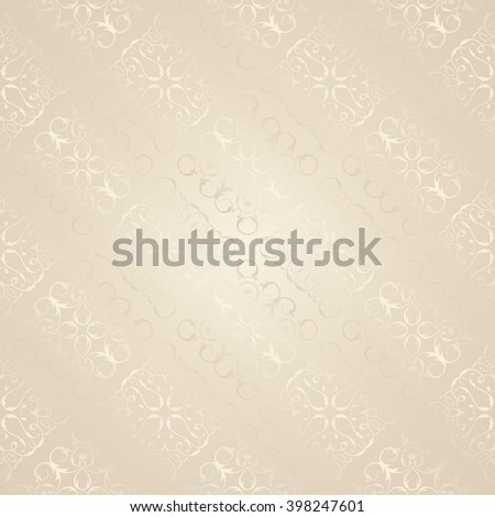 Light Seamless Wallpaper. Vector Background. Seamless pattern with lace elements. Template for your design