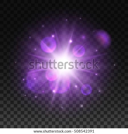 Light Flash Blur Shining Star Sparkling Stock Vector
