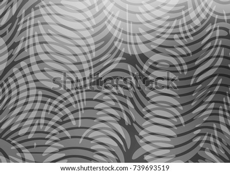 Light Silver, Gray vector indian curved background. A vague abstract illustration with doodles in Indian style. A completely new template for your business design.