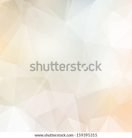 Light soft colors subtle vector abstract polygonal background. Modern and trendy geometric pattern. Smooth and light tones. - stock vector