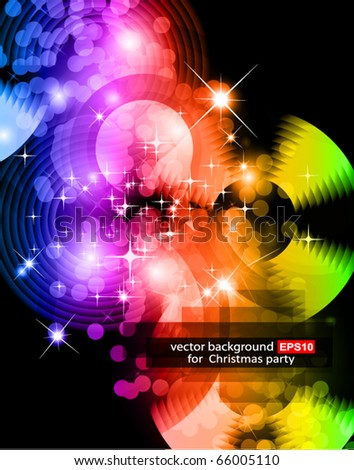 Light Sparkle Background with Rainbow Gradient - stock vector